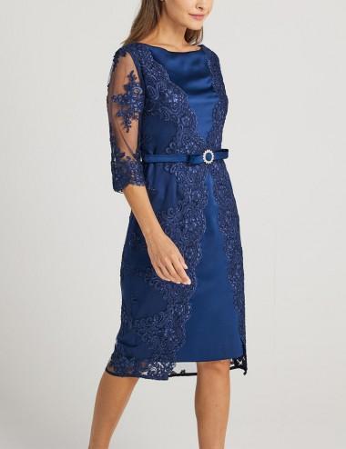 Φόρεμα pencil με δαντέλα Forel