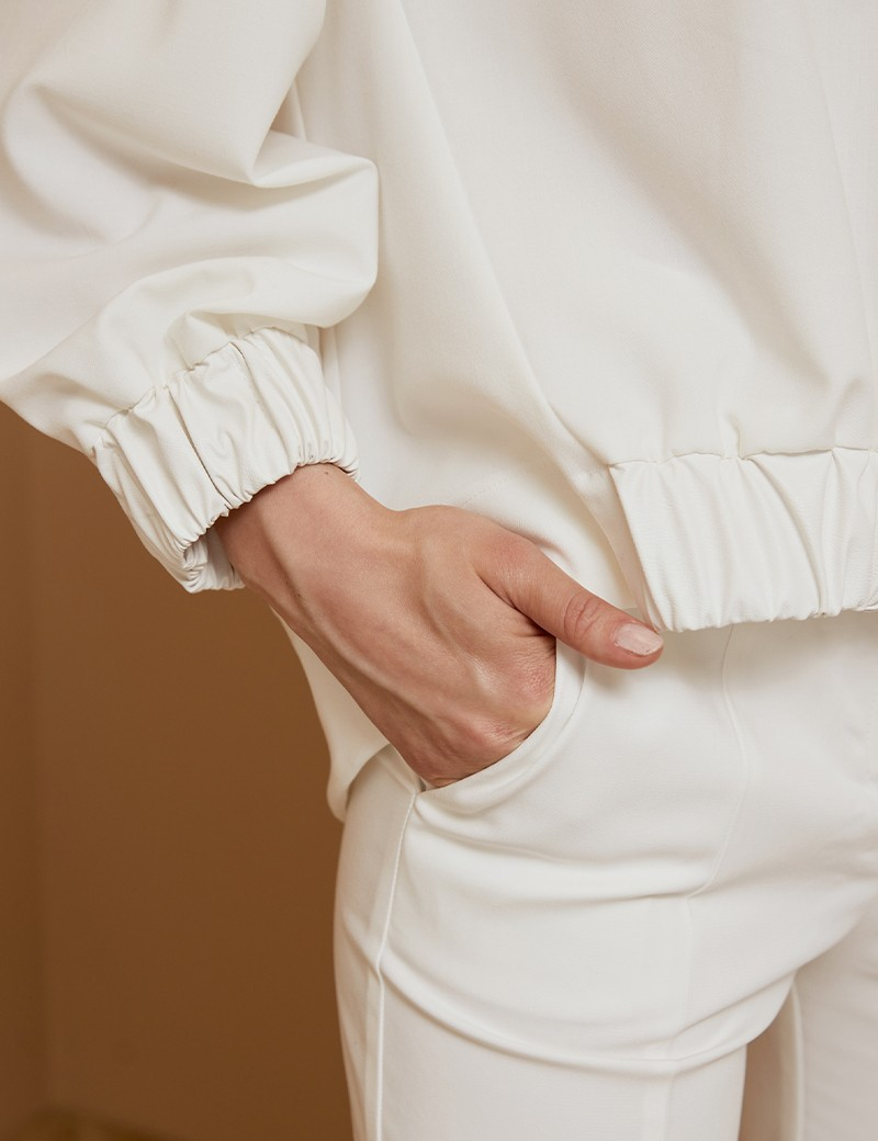 Μπλούζα ασυμμέτρη με λεπτομέρειες δερματίνης ACCESS FASHION
