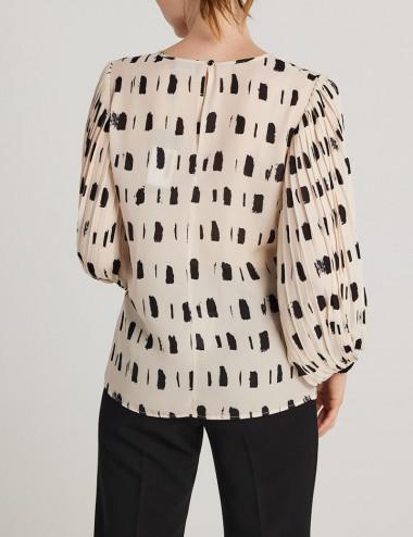 Μπλούζα με πλισέ μανίκι FOREL