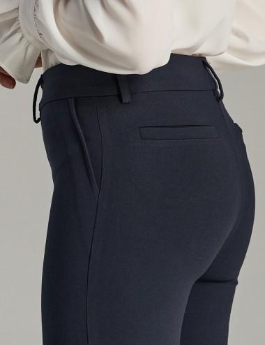 Παντελόνι μπλε κρεπ σε στενή γραμμή FOREL