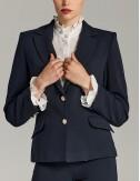 Σακάκι μπλε δίκουμπο κλασικό με χρυσά κουμπιά
