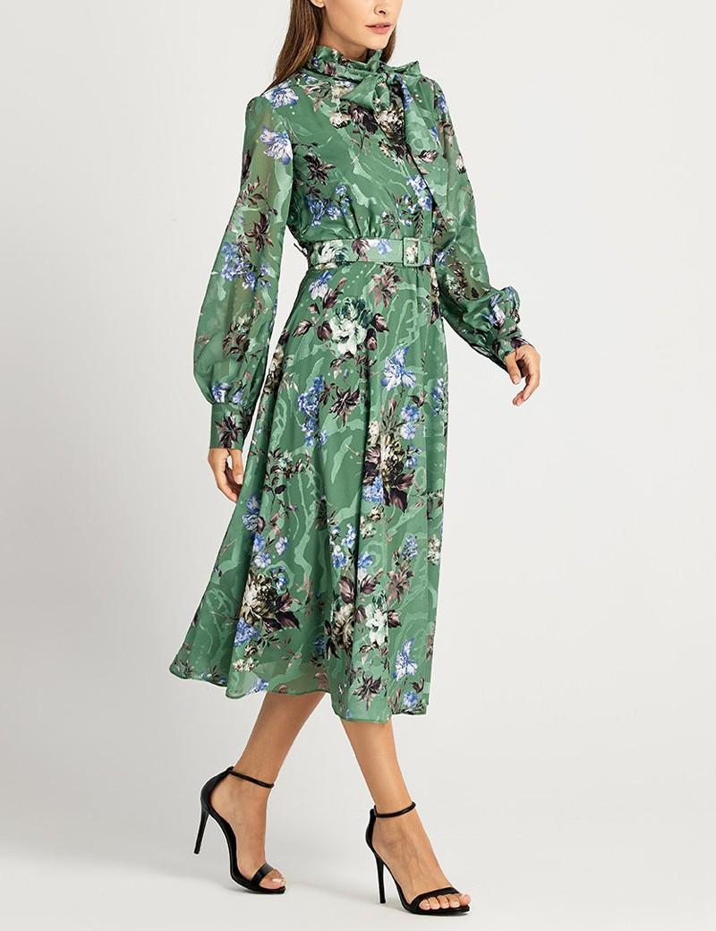 Φόρεμα μίντι με δέσιμο στο λαιμό FOREL