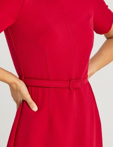 Φόρεμα κρεπ κοντομάνικο σε γραμμή Α FOREL