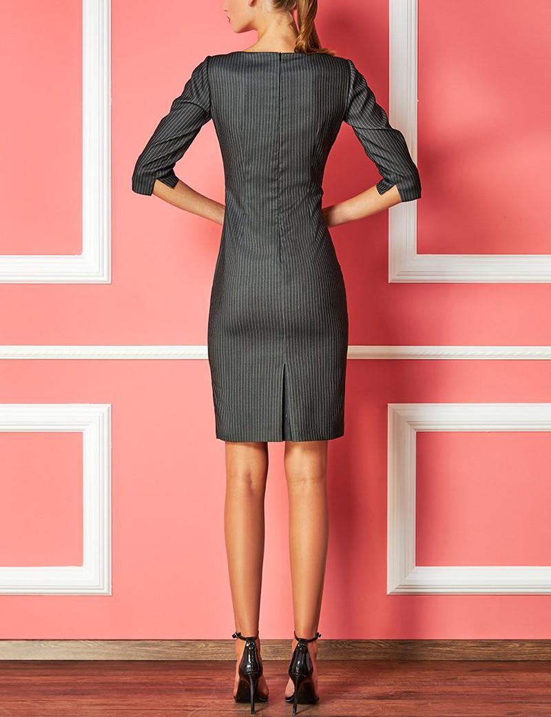 Φόρεμα pencil με λεπτή ρίγα FOREL by VASSILIS ZOULIAS
