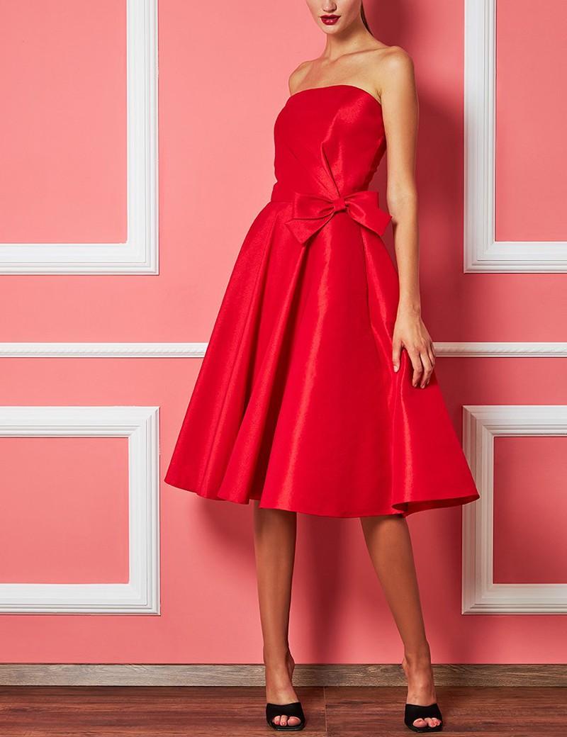 Φόρεμα στράπλες με φιόγκο FOREL by VASSILIS ZOULIAS